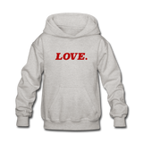 Love. - Kids' Hoodie - heather gray