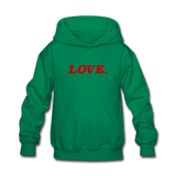 Love. - Kids' Hoodie - kelly green