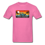 Happy Surfer -  Adult Tagless T-Shirt - hot pink