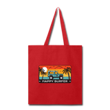 Happy Surfer - Tote Bag - red