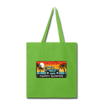 Happy Surfer - Tote Bag - lime green
