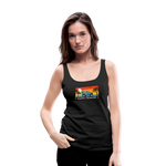 Happy Surfer - Women's Premium Tank Top - black