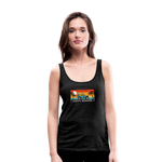 Happy Surfer - Women's Premium Tank Top - charcoal gray
