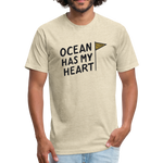 Ocean Has My Heart -  Fitted Cotton/Poly T-Shirt - heather cream