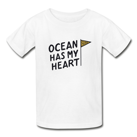 Ocean Has My Heart - Ultra Cotton Youth T-Shirt - white