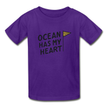 Ocean Has My Heart - Ultra Cotton Youth T-Shirt - purple