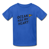 Ocean Has My Heart - Ultra Cotton Youth T-Shirt - royal blue