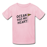 Ocean Has My Heart - Ultra Cotton Youth T-Shirt - light pink
