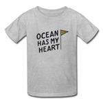 Ocean Has My Heart - Ultra Cotton Youth T-Shirt - heather gray