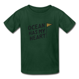 Ocean Has My Heart - Ultra Cotton Youth T-Shirt - forest green
