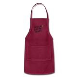 Ocean Has My Heart - Adjustable Apron - burgundy