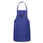 Ocean Has My Heart - Adjustable Apron - royal blue