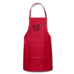 Ocean Has My Heart - Adjustable Apron - red