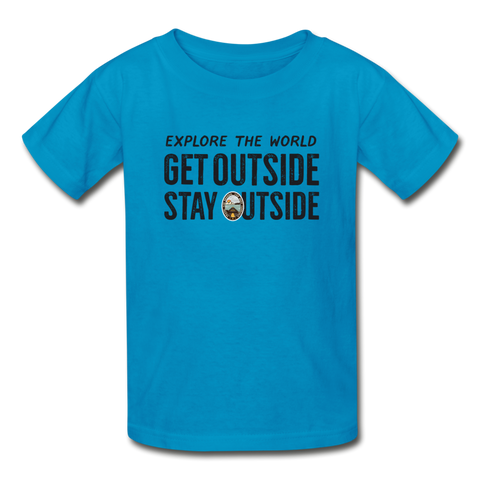 Explore The World - Ultra Cotton Youth T-Shirt - turquoise