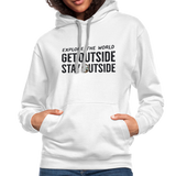 Explore The World - Contrast Hoodie - white/gray