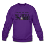 Explore The World - Crewneck Sweatshirt - purple