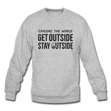 Explore The World - Crewneck Sweatshirt - heather gray