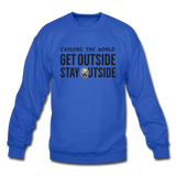 Explore The World - Crewneck Sweatshirt - royal blue