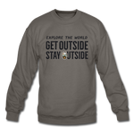 Explore The World - Crewneck Sweatshirt - asphalt gray