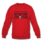 Explore The World - Crewneck Sweatshirt - red