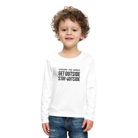 Explore The World - Kids' Premium Long Sleeve T-Shirt - white