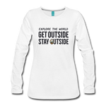 Explore The World - Women's Premium Long Sleeve T-Shirt - white
