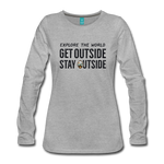 Explore The World - Women's Premium Long Sleeve T-Shirt - heather gray