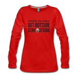 Explore The World - Women's Premium Long Sleeve T-Shirt - red
