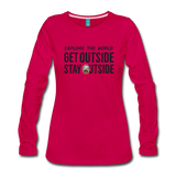 Explore The World - Women's Premium Long Sleeve T-Shirt - dark pink