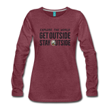 Explore The World - Women's Premium Long Sleeve T-Shirt - heather burgundy