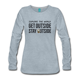 Explore The World - Women's Premium Long Sleeve T-Shirt - heather ice blue