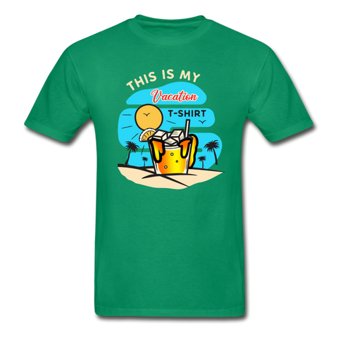 This Is My Vacation T-Shirt - kelly green