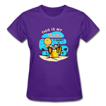 This Is My Vacation T-Shirt - Ladies - purple