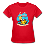 This Is My Vacation T-Shirt - Ladies - red