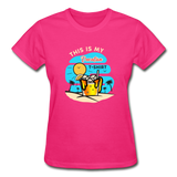 This Is My Vacation T-Shirt - Ladies - fuchsia