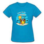 This Is My Vacation T-Shirt - Ladies - turquoise