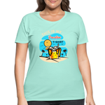 This Is My Vacation T-Shirt - Women's Curvy - mint