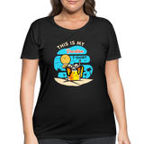 This Is My Vacation T-Shirt - Women's Curvy - black