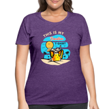 This Is My Vacation T-Shirt - Women's Curvy - heather purple