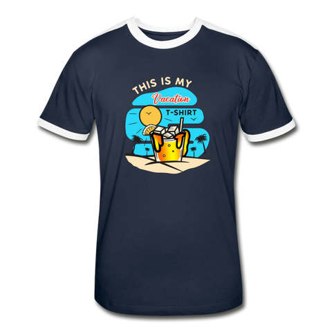 This Is My Vacation T-Shirt - Men's Retro - navy/white