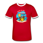 This Is My Vacation T-Shirt - Men's Retro - red/white