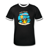 This Is My Vacation T-Shirt - Men's Retro - black/white
