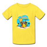 This Is My Vacation T-Shirt - Youth - yellow