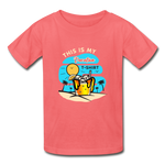 This Is My Vacation T-Shirt - Youth - coral