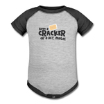 Have A Cracker - Baseball Baby Bodysuit - heather gray/charcoal