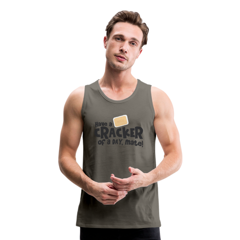 Have A Cracker - Men's Premium Tank - asphalt gray