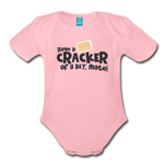 Have A Cracker - Organic Short Sleeve Baby Bodysuit - light pink