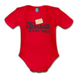 Have A Cracker - Organic Short Sleeve Baby Bodysuit - red