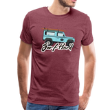 Surf Hard - Men's Premium T-Shirt - heather burgundy