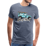 Surf Hard - Men's Premium T-Shirt - heather blue